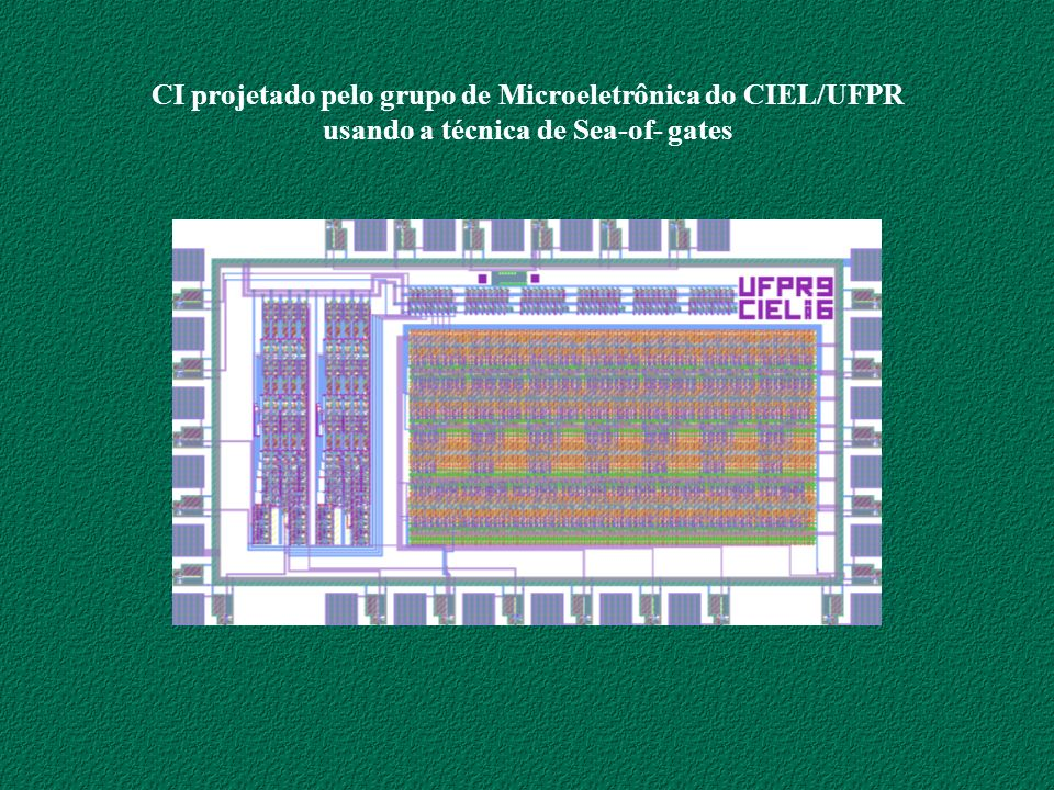 CI projetado pelo grupo de Microeletrônica do CIEL/UFPR