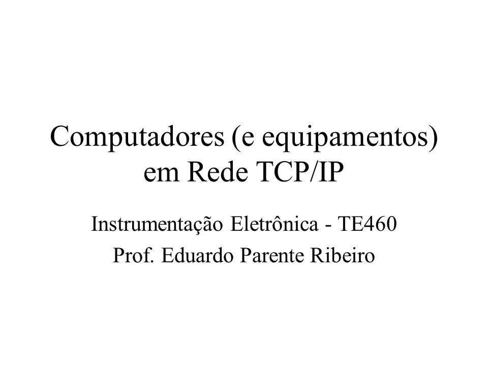 Computadores (e equipamentos) em Rede TCP/IP