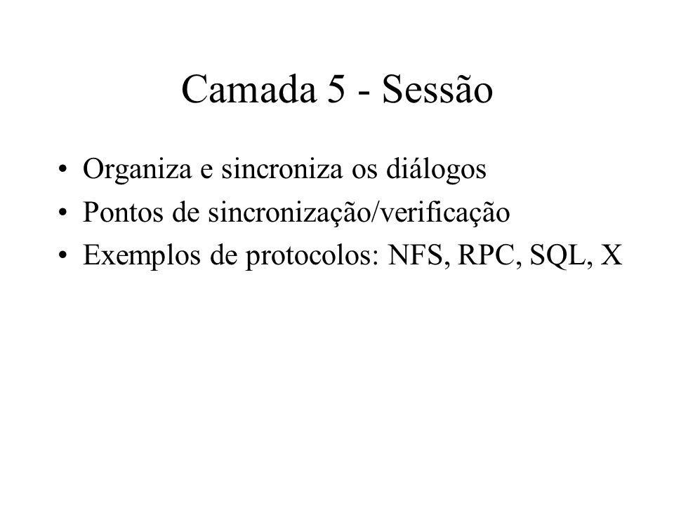 Camada 5 - Sessão Organiza e sincroniza os diálogos