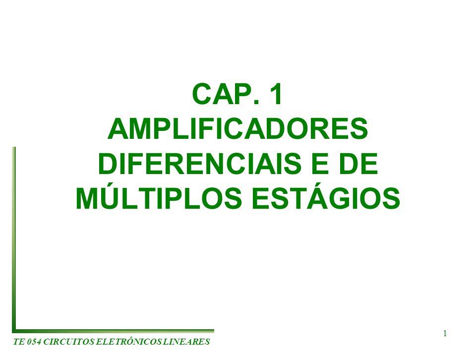 CAP. 1 AMPLIFICADORES DIFERENCIAIS E DE MÚLTIPLOS ESTÁGIOS