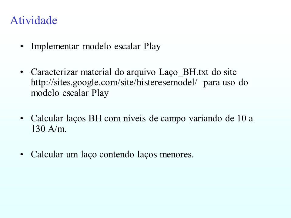 Atividade Implementar modelo escalar Play