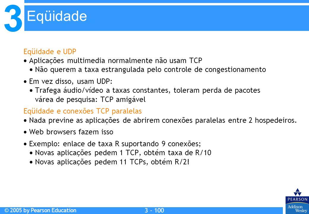 Eqüidade Eqüidade e UDP