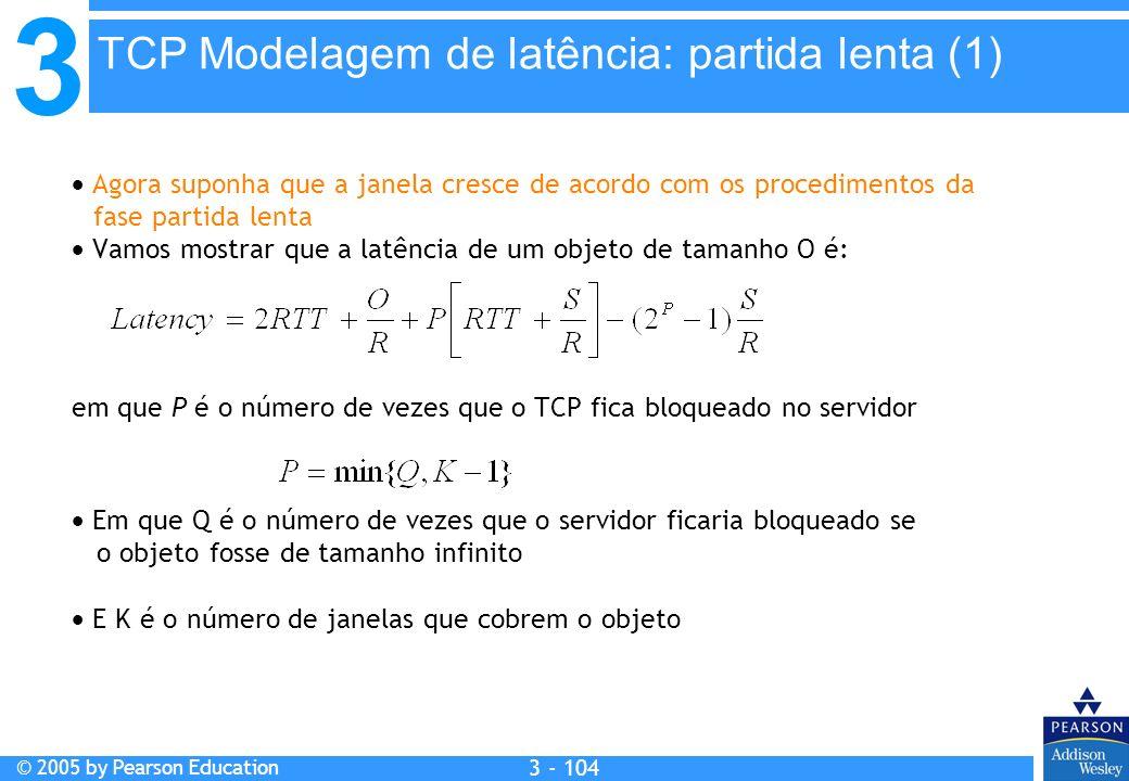 TCP Modelagem de latência: partida lenta (1)