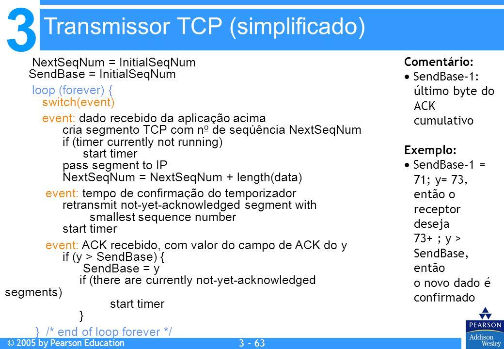 Transmissor TCP (simplificado)