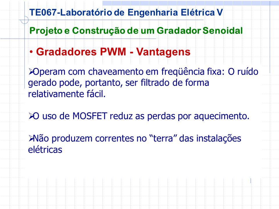 Gradadores PWM - Vantagens