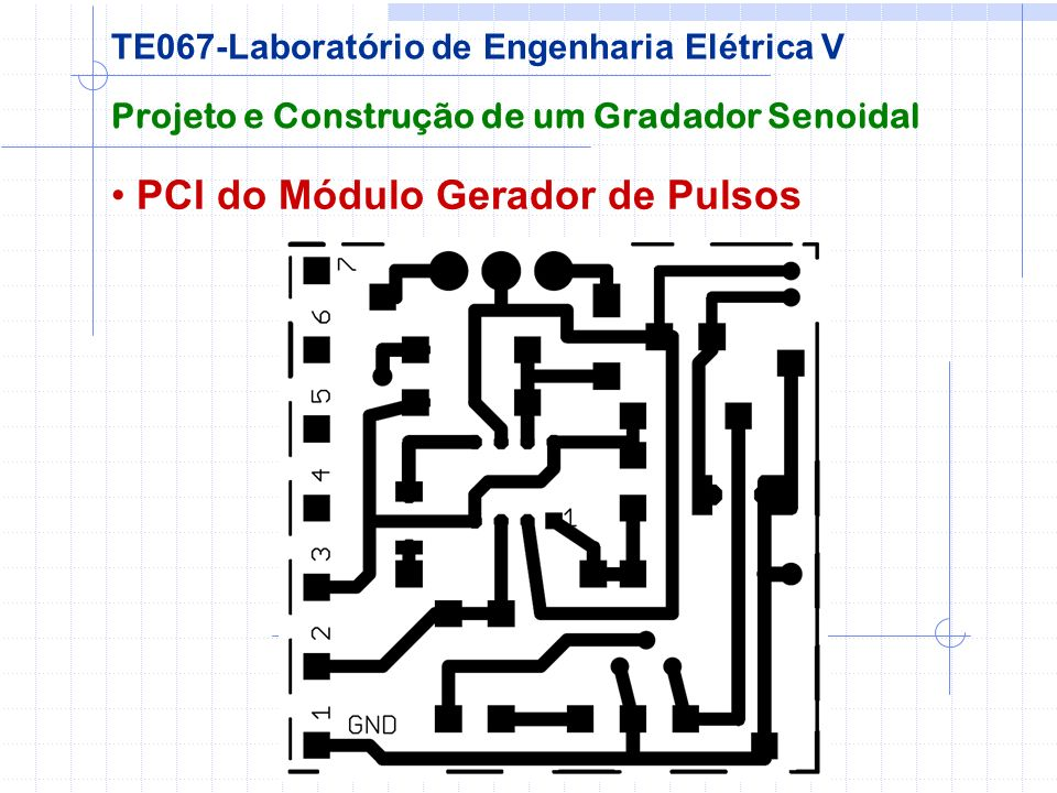 PCI do Módulo Gerador de Pulsos