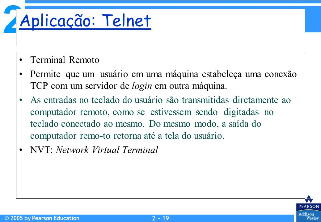 Aplicação: Telnet Terminal Remoto