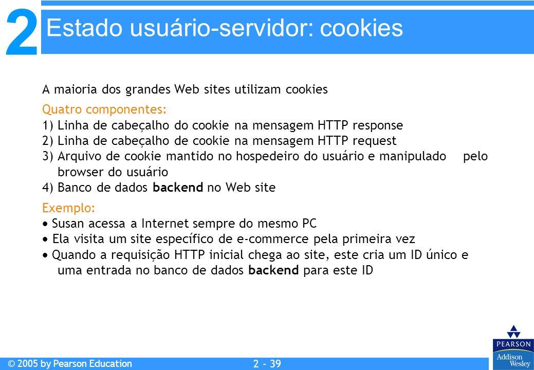 Estado usuário-servidor: cookies
