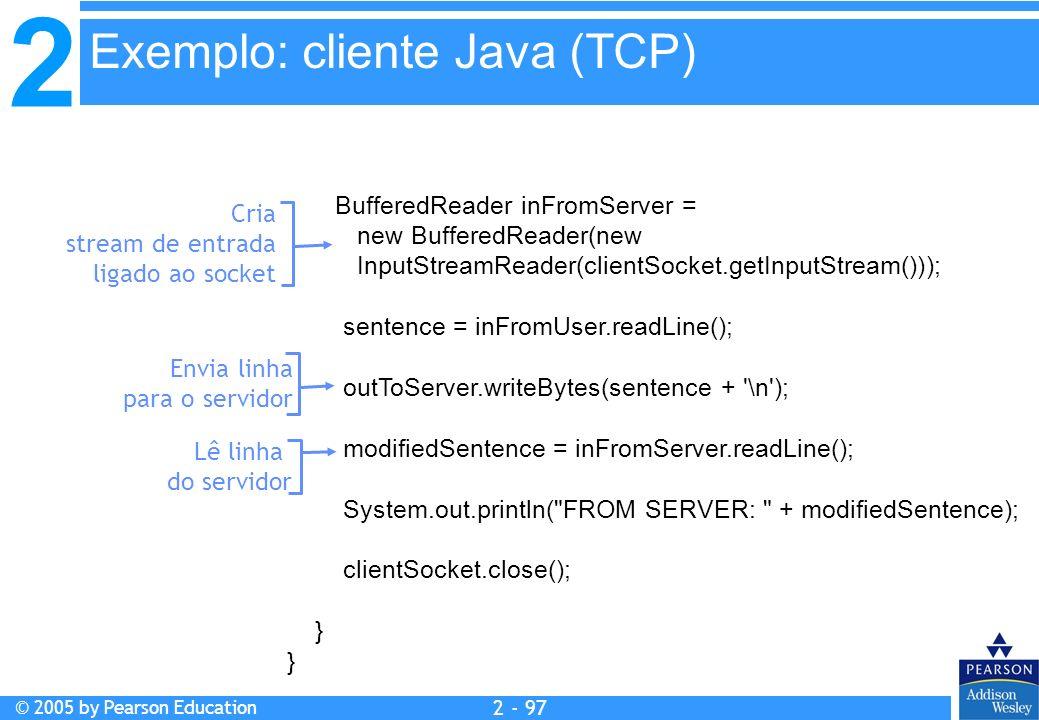 Exemplo: cliente Java (TCP)