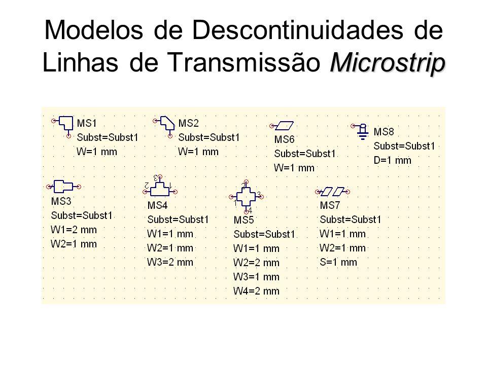 Modelos de Descontinuidades de Linhas de Transmissão Microstrip