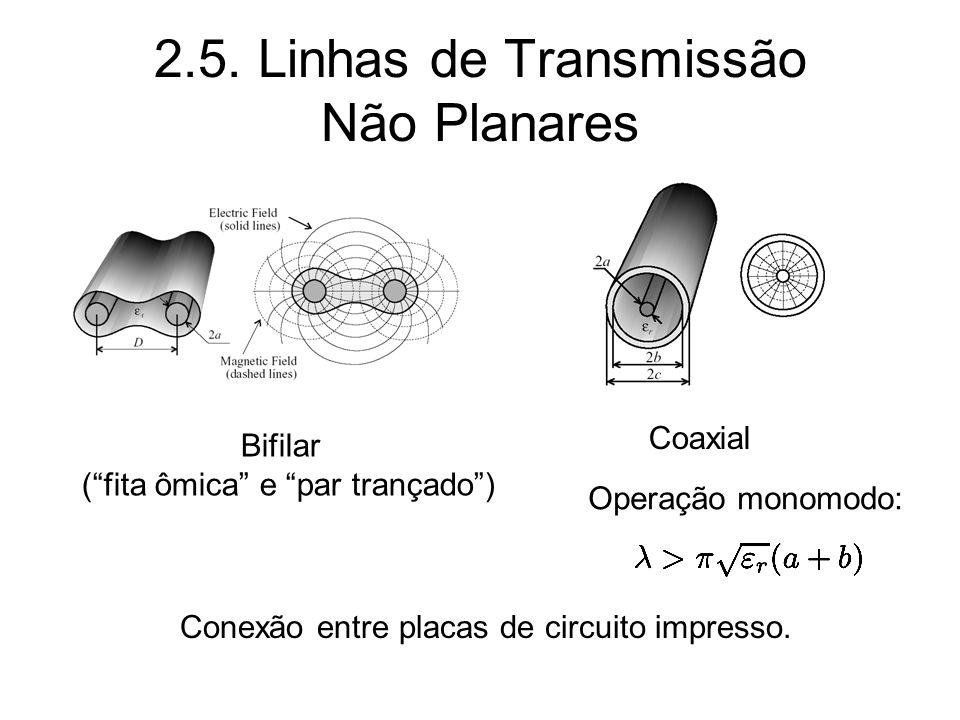 2.5. Linhas de Transmissão Não Planares