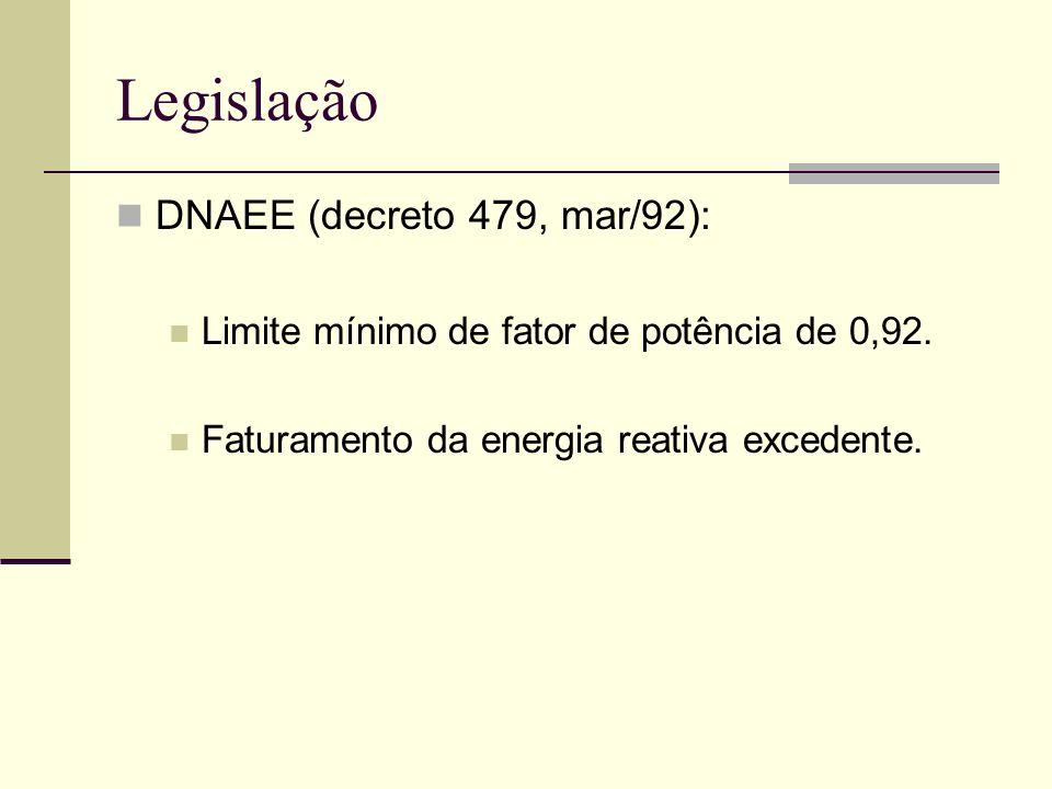 Legislação DNAEE (decreto 479, mar/92):