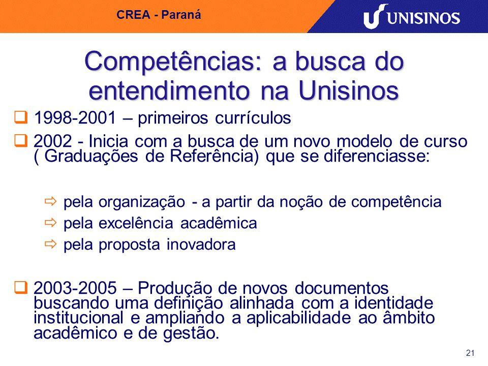 Competências: a busca do entendimento na Unisinos