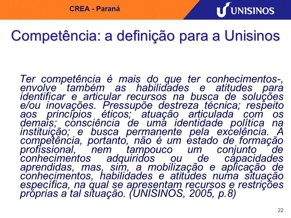 Competência: a definição para a Unisinos
