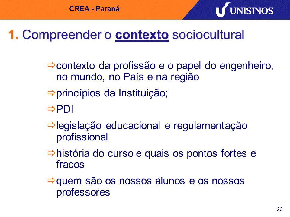 1. Compreender o contexto sociocultural