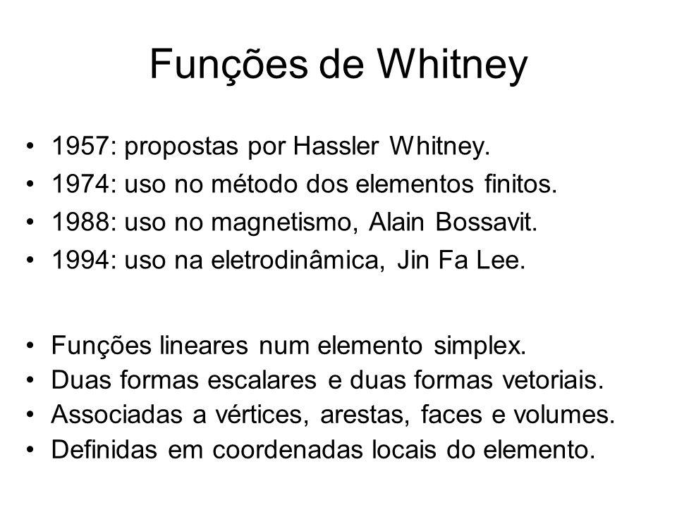 Funções de Whitney 1957: propostas por Hassler Whitney.