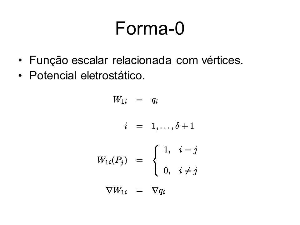 Forma-0 Função escalar relacionada com vértices.