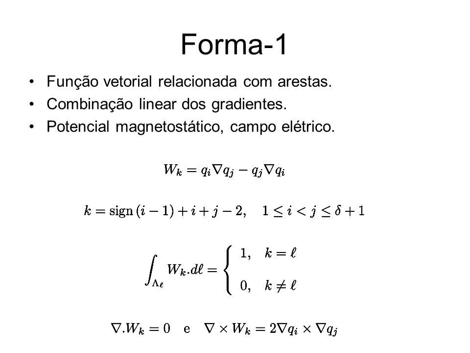 Forma-1 Função vetorial relacionada com arestas.
