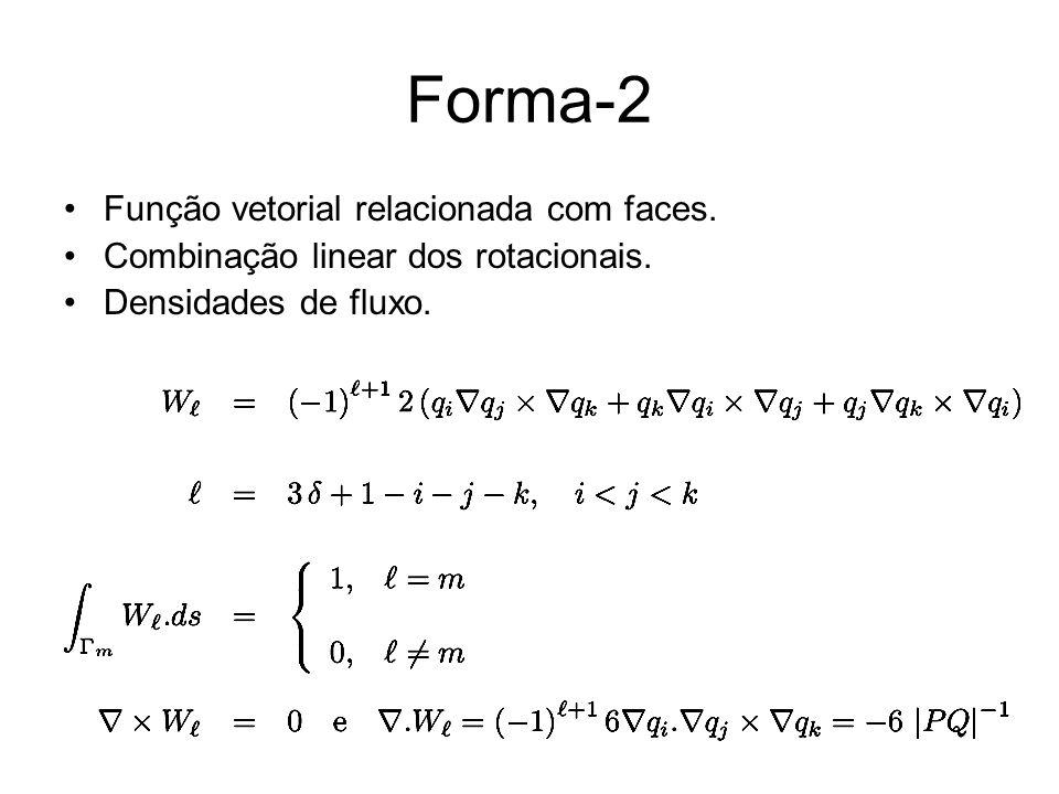 Forma-2 Função vetorial relacionada com faces.