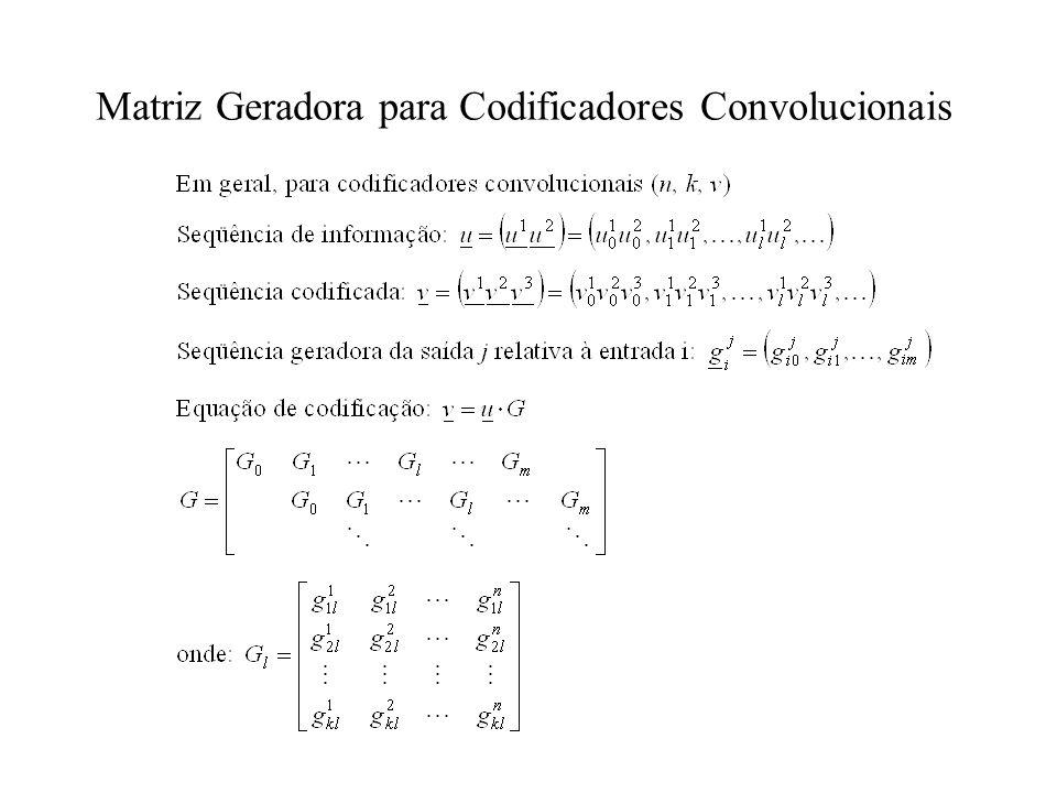 Matriz Geradora para Codificadores Convolucionais