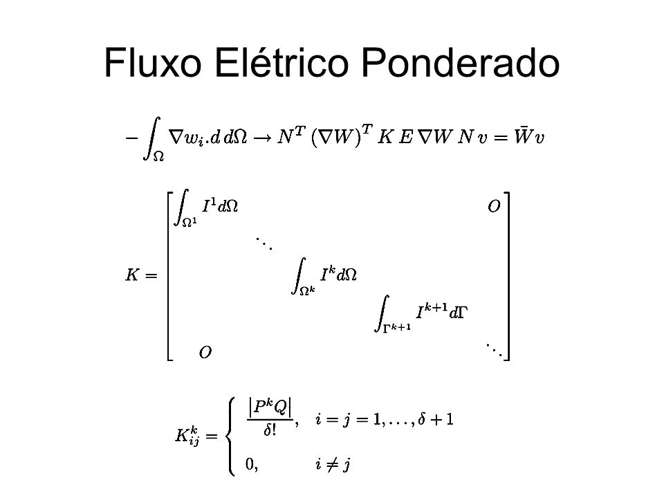 Fluxo Elétrico Ponderado