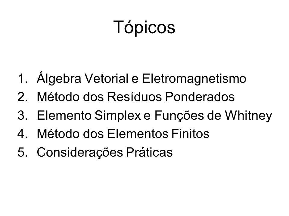 Tópicos Álgebra Vetorial e Eletromagnetismo