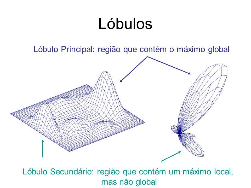 Lóbulos Lóbulo Principal: região que contém o máximo global