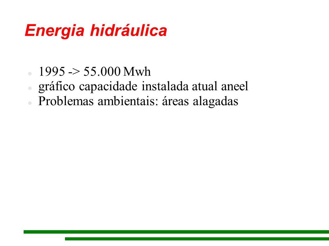 Energia hidráulica 1995 -> 55.000 Mwh