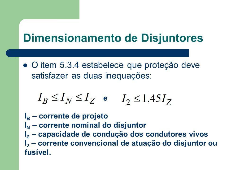 Dimensionamento de Disjuntores