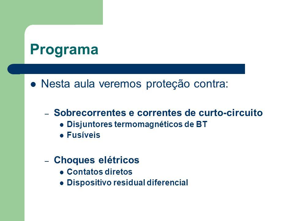 Programa Nesta aula veremos proteção contra: