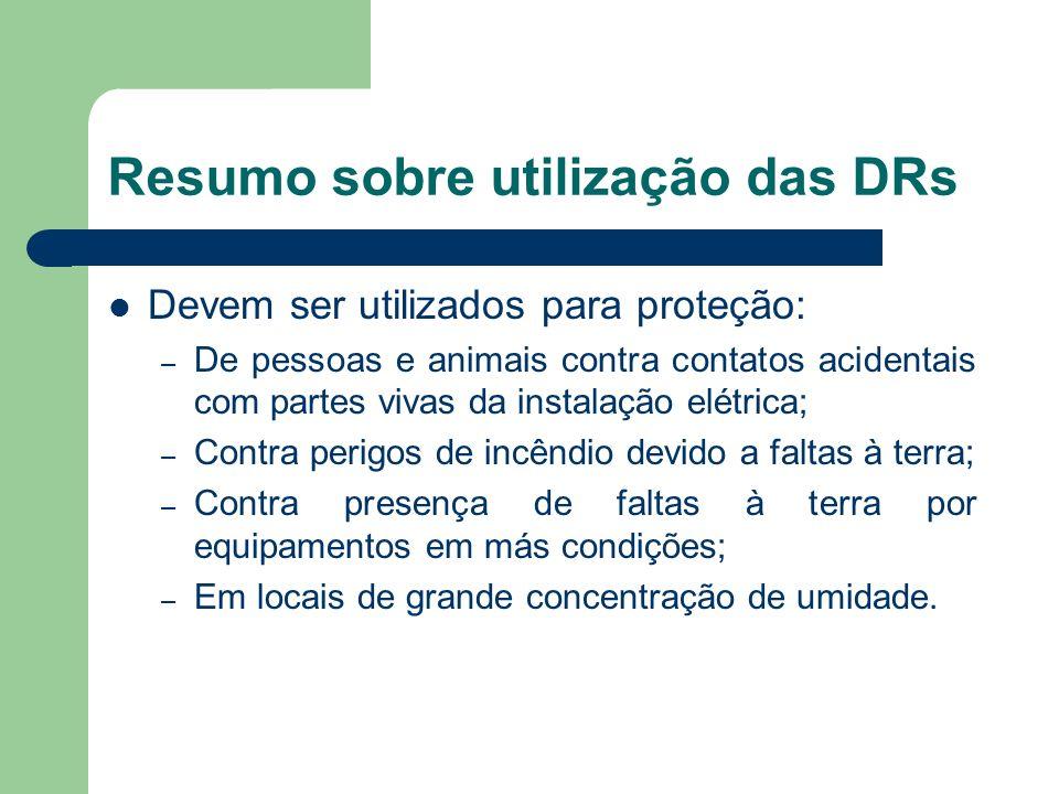 Resumo sobre utilização das DRs