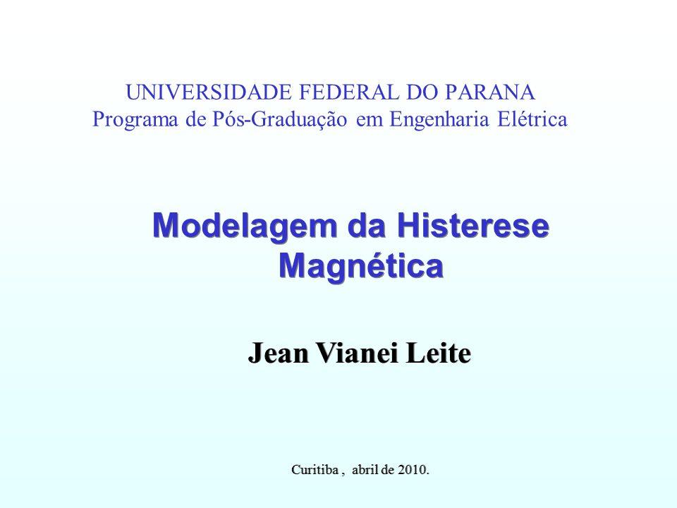 Modelagem da Histerese Magnética