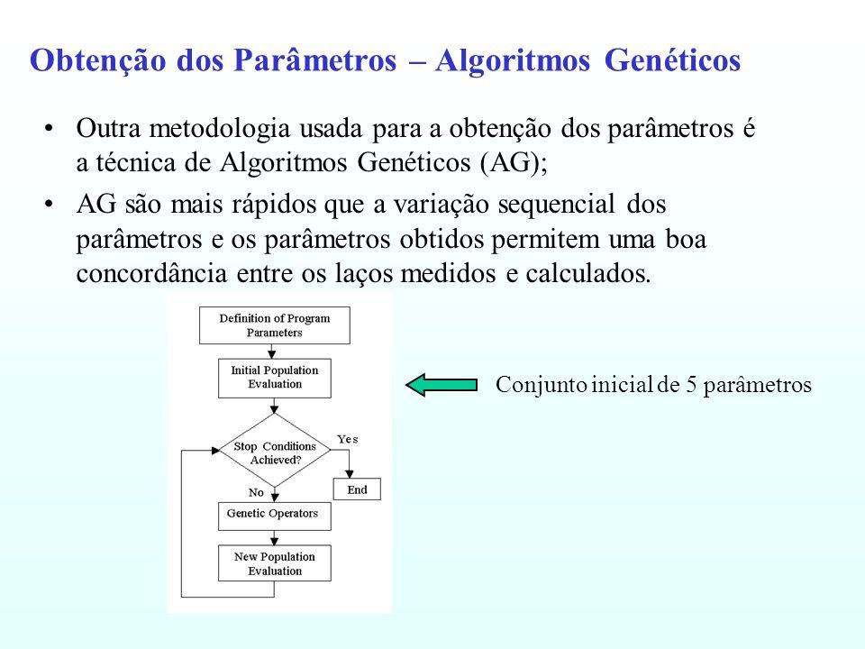 Obtenção dos Parâmetros – Algoritmos Genéticos