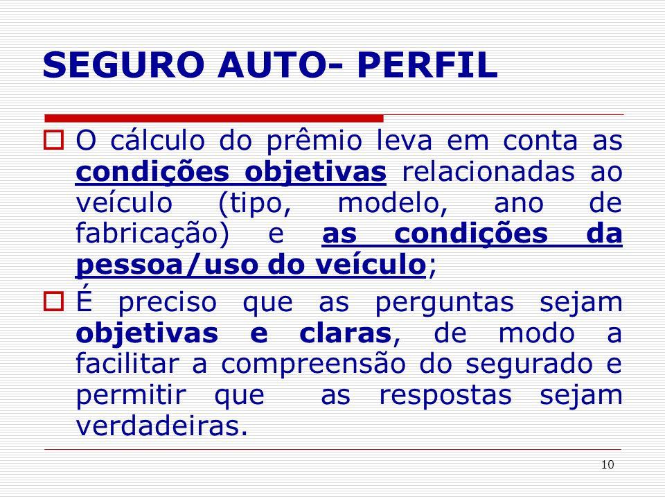 SEGURO AUTO- PERFIL