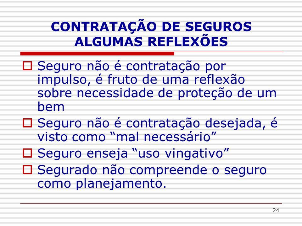 CONTRATAÇÃO DE SEGUROS ALGUMAS REFLEXÕES