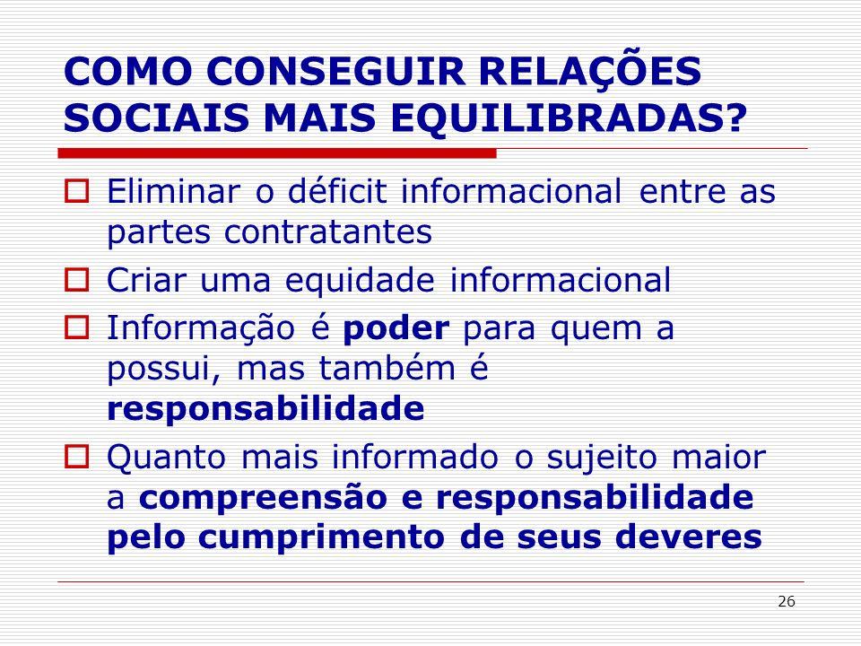 COMO CONSEGUIR RELAÇÕES SOCIAIS MAIS EQUILIBRADAS