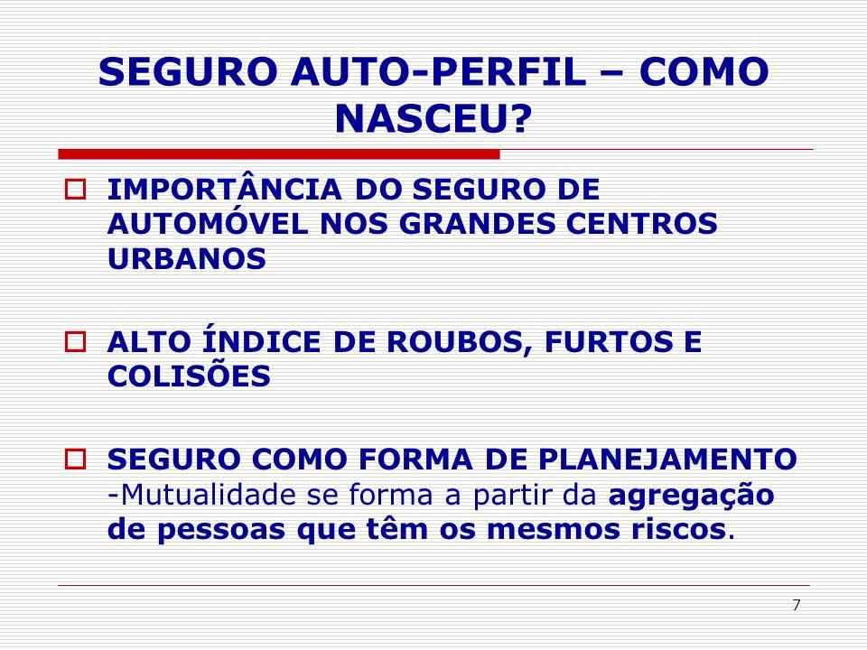 SEGURO AUTO-PERFIL – COMO NASCEU