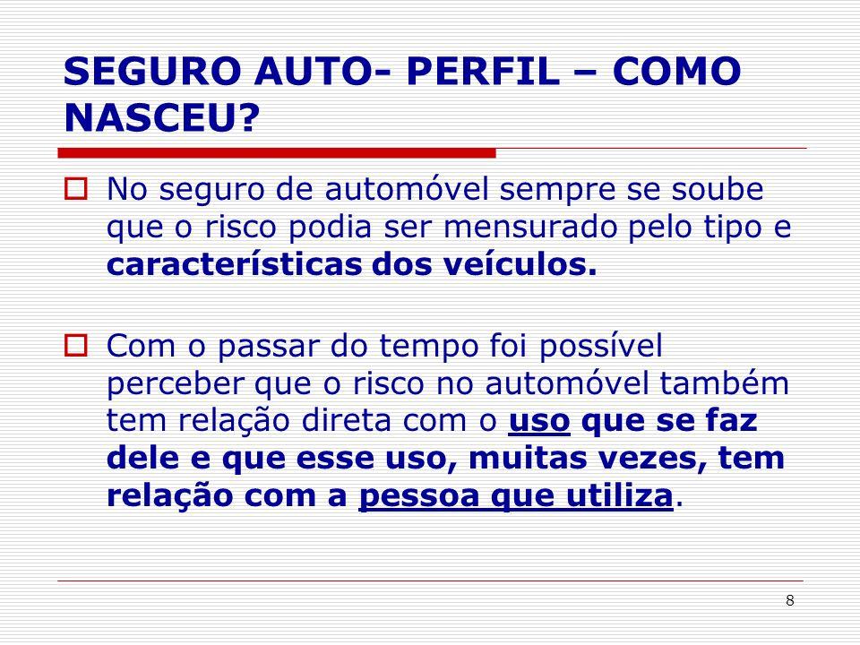 SEGURO AUTO- PERFIL – COMO NASCEU