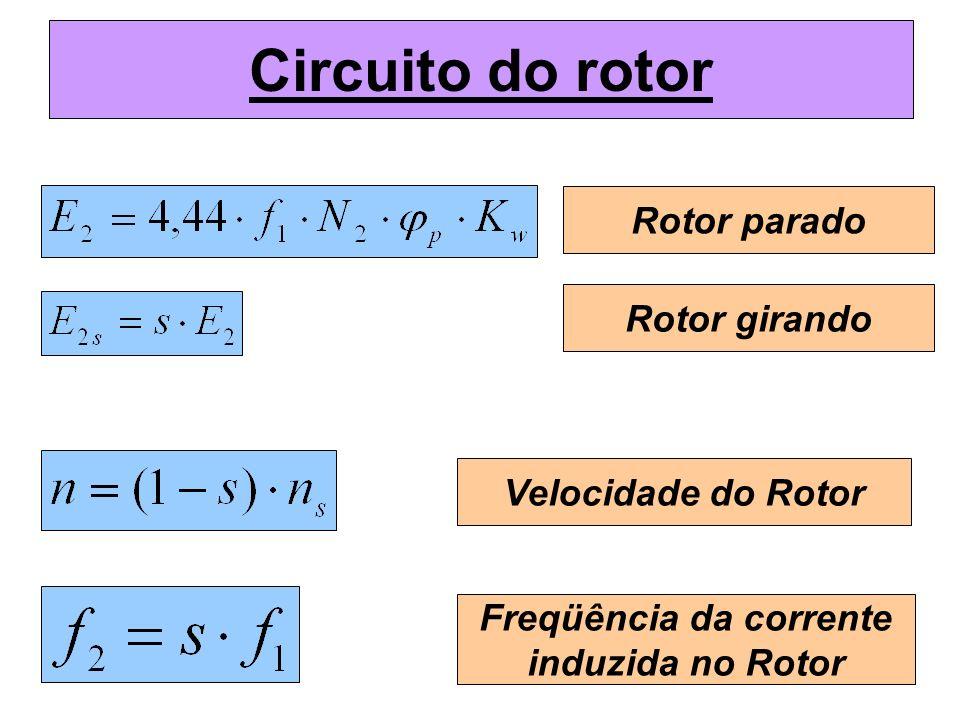Freqüência da corrente induzida no Rotor