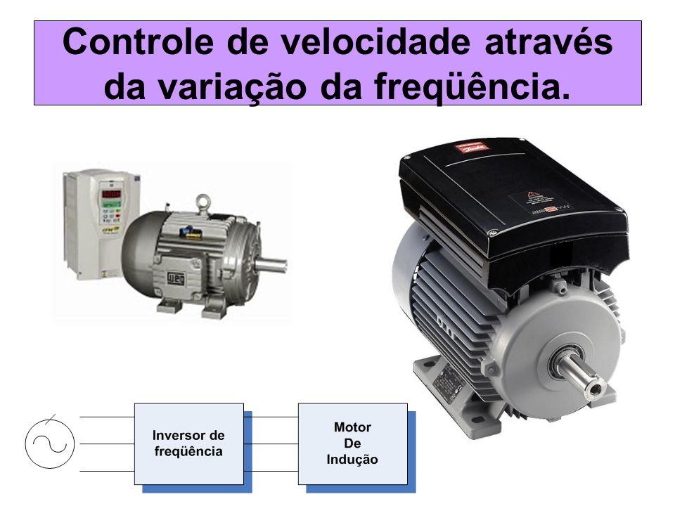 Controle de velocidade através da variação da freqüência.