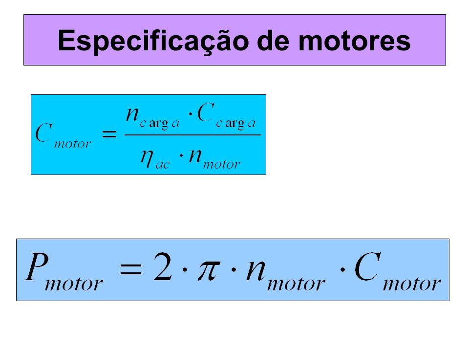 Especificação de motores