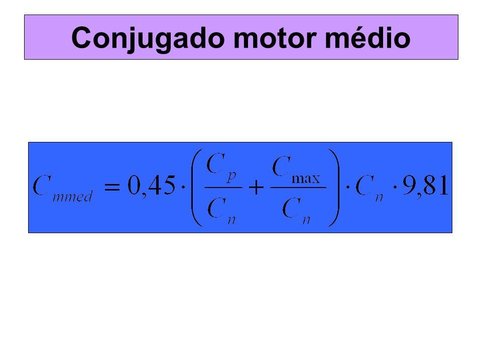 Conjugado motor médio