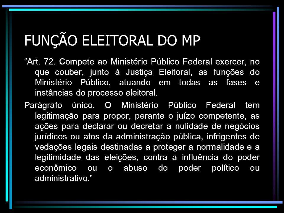 FUNÇÃO ELEITORAL DO MP