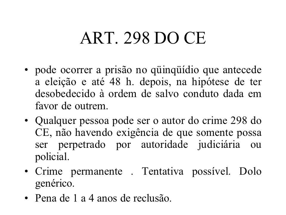 ART. 298 DO CE