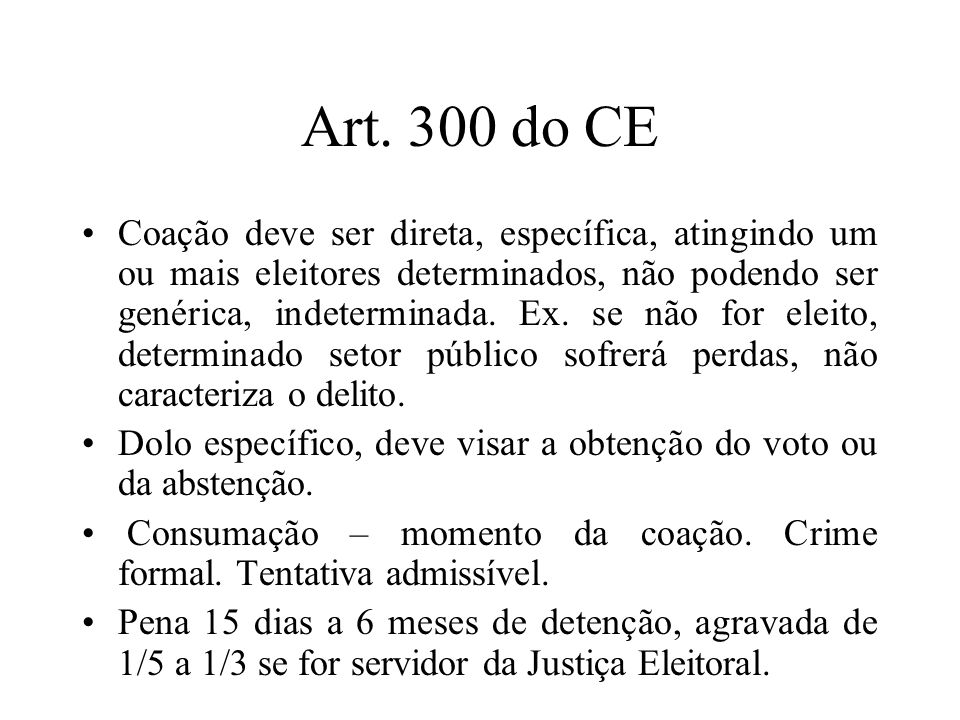 Art. 300 do CE