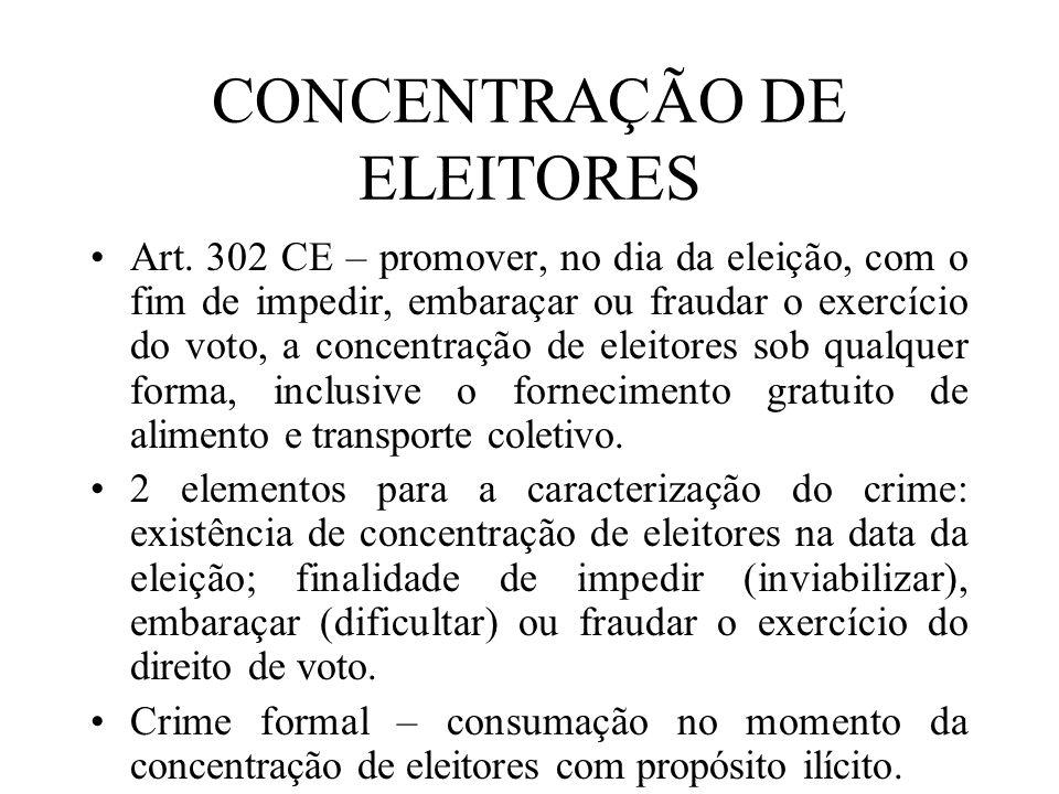 CONCENTRAÇÃO DE ELEITORES