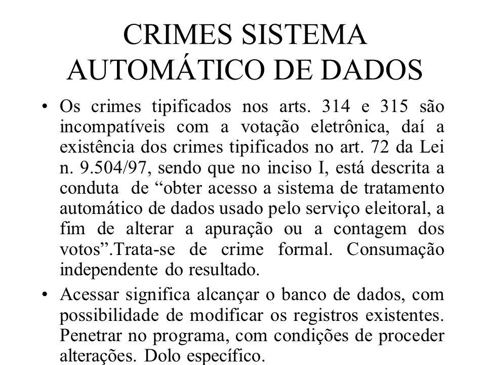 CRIMES SISTEMA AUTOMÁTICO DE DADOS