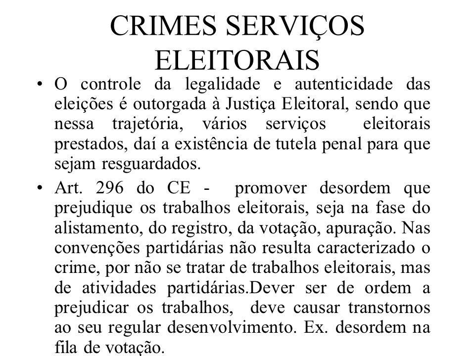 CRIMES SERVIÇOS ELEITORAIS