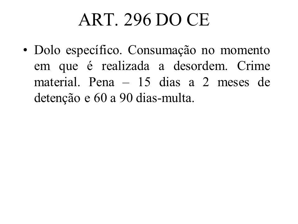 ART. 296 DO CE