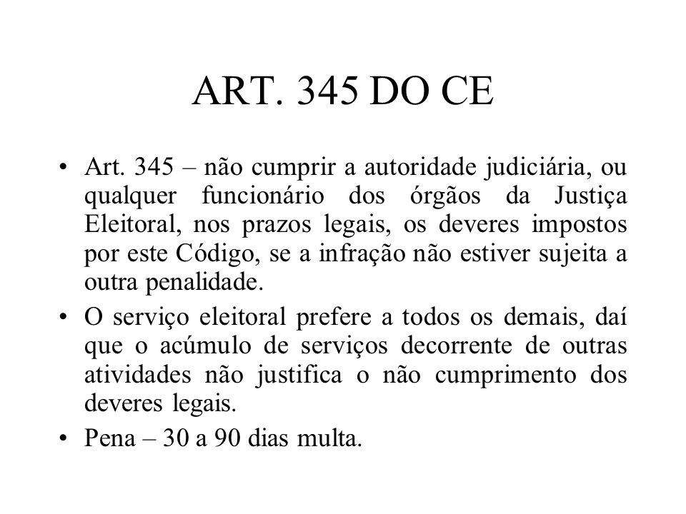 ART. 345 DO CE